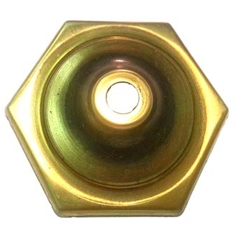 "O6CAP 6 Sided Brass Vase Caps   Side length: 1-5/8""(41mm)"