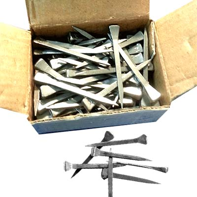 SHN-5-100Leponitt Horseshoe Nails   100pcs/box. For lead work & panel work use. Horseshoe nails are 5cm in length, and have two flat sides and large head. Which can help hold pieces of glass in the channels while the panel is being leaded up. Everyone can hammer them easily to wooden board while work, and pull them with just a gentle wiggle.