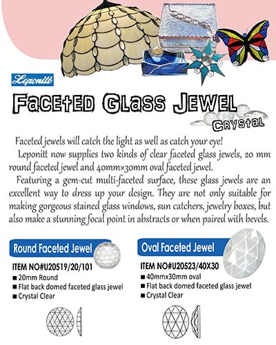 Clear faceted glass jewels