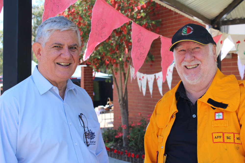 Les Harris, Gidgegannup, Volunteer Firefighter - It is the first time ever we have seen a local federal member visit our brigade, show interest in us and put himself out to attend our meetings.He wasn't just after votes, he was all action. Thanks to him we have a new mobile phone tower, we have boosters for our fire fighting vehicles totally eliminating the black spots which improves communications in Gidgegannup and makes it safer for our entire community.He also put us in touch with commonwealth grants which is one of the only ways we can raise money. Ken is a person who cares and can relate to his community. Ken is always welcome to join us up at the brigade.