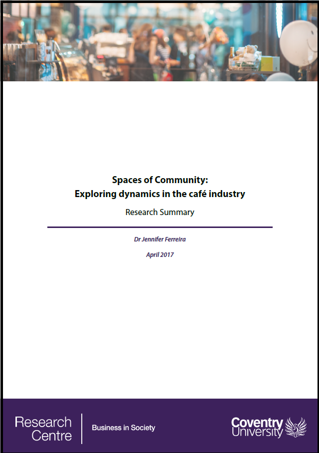 Spaces of Community cafe industry