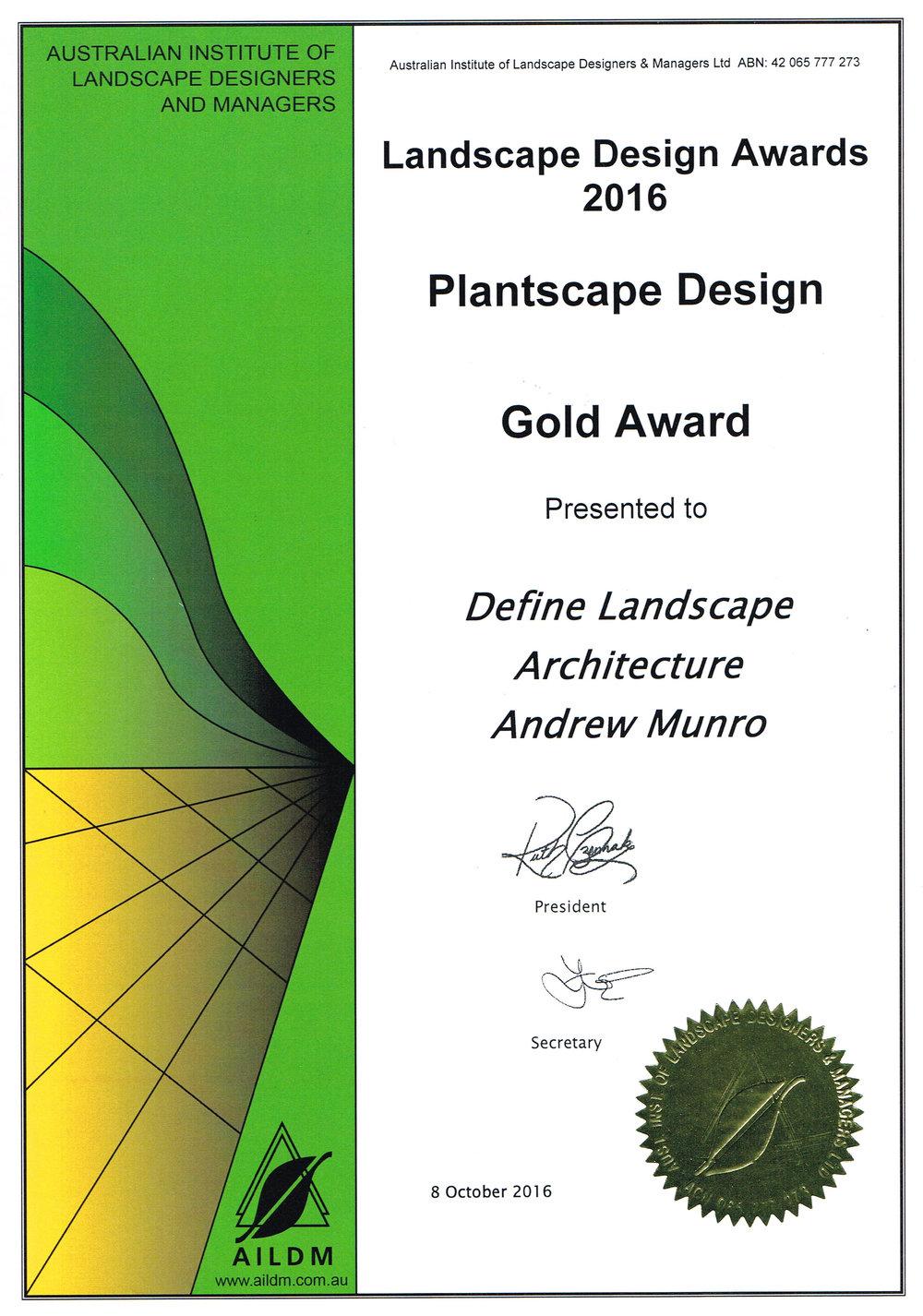 2016 AILDM Certificate Gold Award Plantscape.jpg