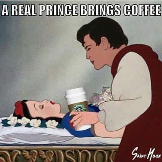 Oh yes he does! Richtig, Ladies? 🤴🏻 #princesbringcoffee