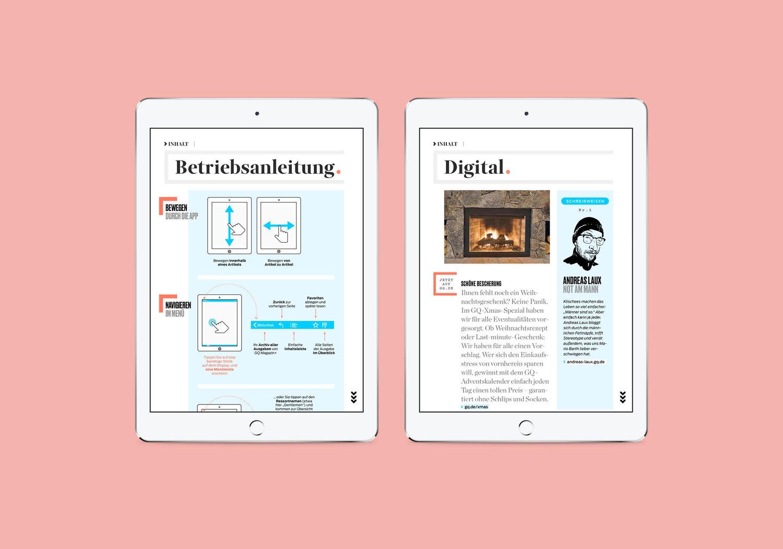 GQ iPad App — Michael Nolan . Designer