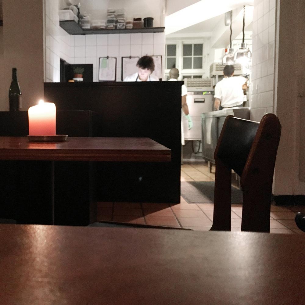 Open kitchen at Bror