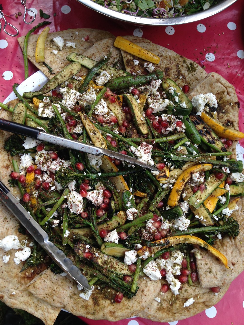 Za'atar grilled vegetables, Turkish feta, Aleppo chilli