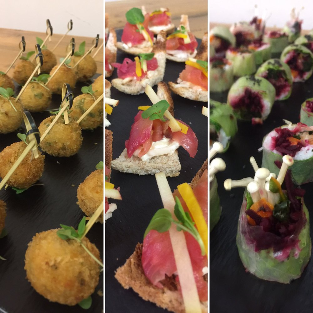 Sample Canapés menus - from £2.00 to £3.50 each -