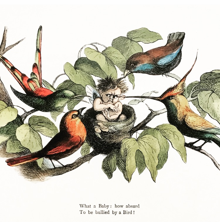 Brittiläistä lastenkirjojen kuvitusta Kansalliskirjaston Brummeriana -näyttelyssä.