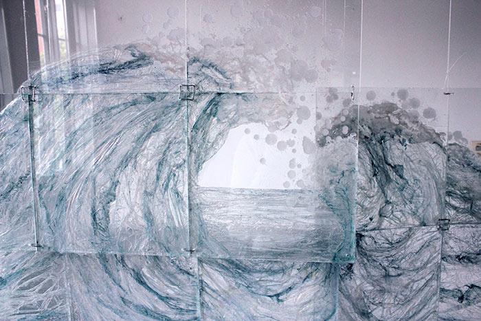Intacto. Osa installaatiosta.189 x 105 cm, 2016