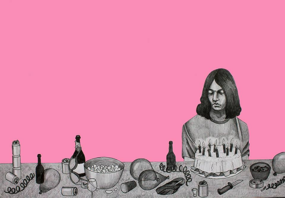 Juhla piirustus, kuvitus, kansi julkaisuun, 2016