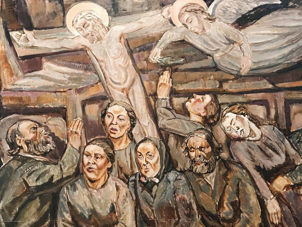 Osa Tyko Sallisen teoksesta Hihhulit, öljy 1918.