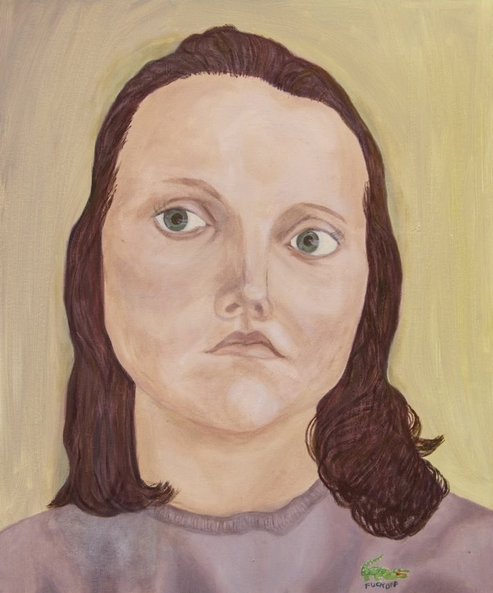 Emmu Johansson : Aliisa, öljy kankaalle, 55x46, 2016