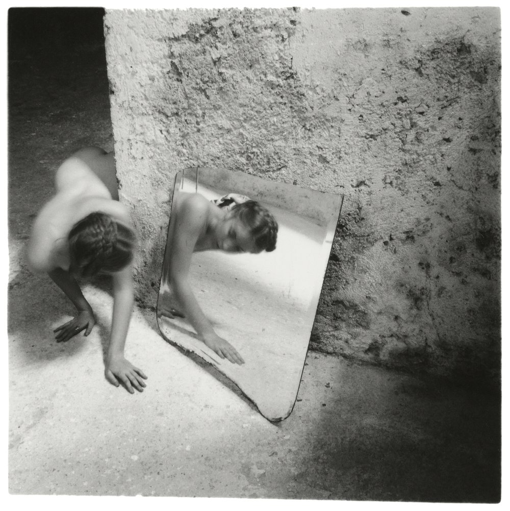 Francesca Woodman, Self-deceit #1, Rome, Italy, 1978 © George and Betty Woodman