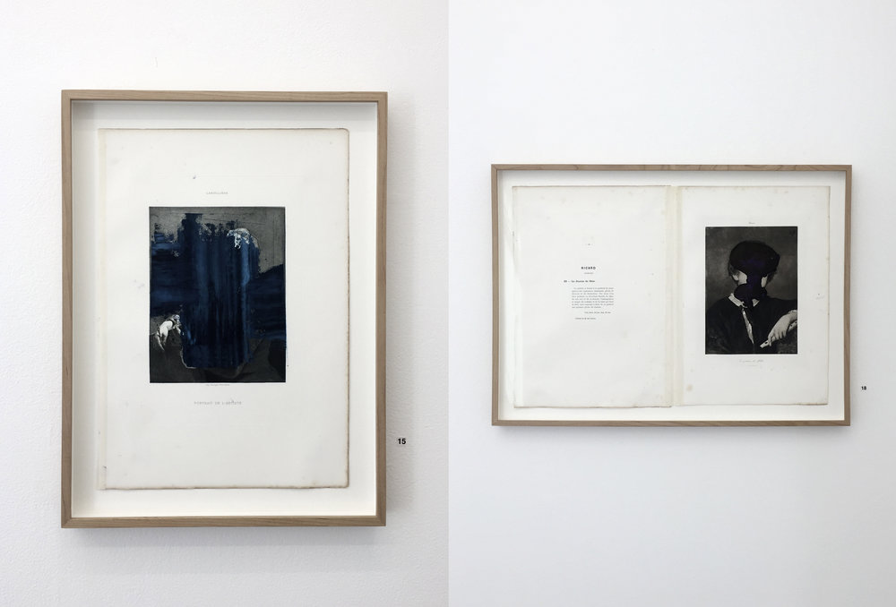 Heli Hiltunen:  Cover-versioita vanhoista lauluista  (vas:  Portrait de l'Artiste,  oik:  Le Jouer de flute ), 2018, kuvat: Hanna Råst