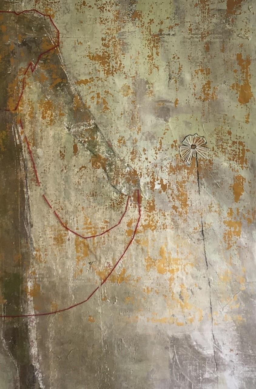 Virpi Ekman. Yksityiskohta teoksesta Always Remember Who You Are, 160 x 180 cm. 2016.
