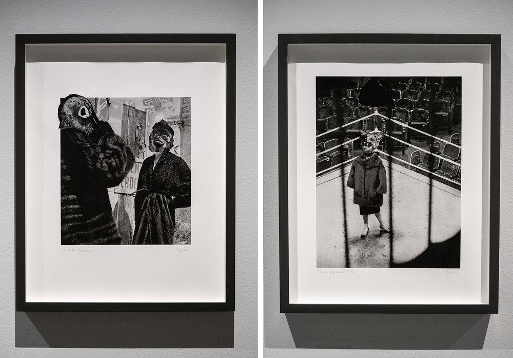 Luonto kutsuu  (2018) (vasemmalla) ja  Taito argumentoida  (2018) (oikealla), sarjasta  Flâneurs forever.