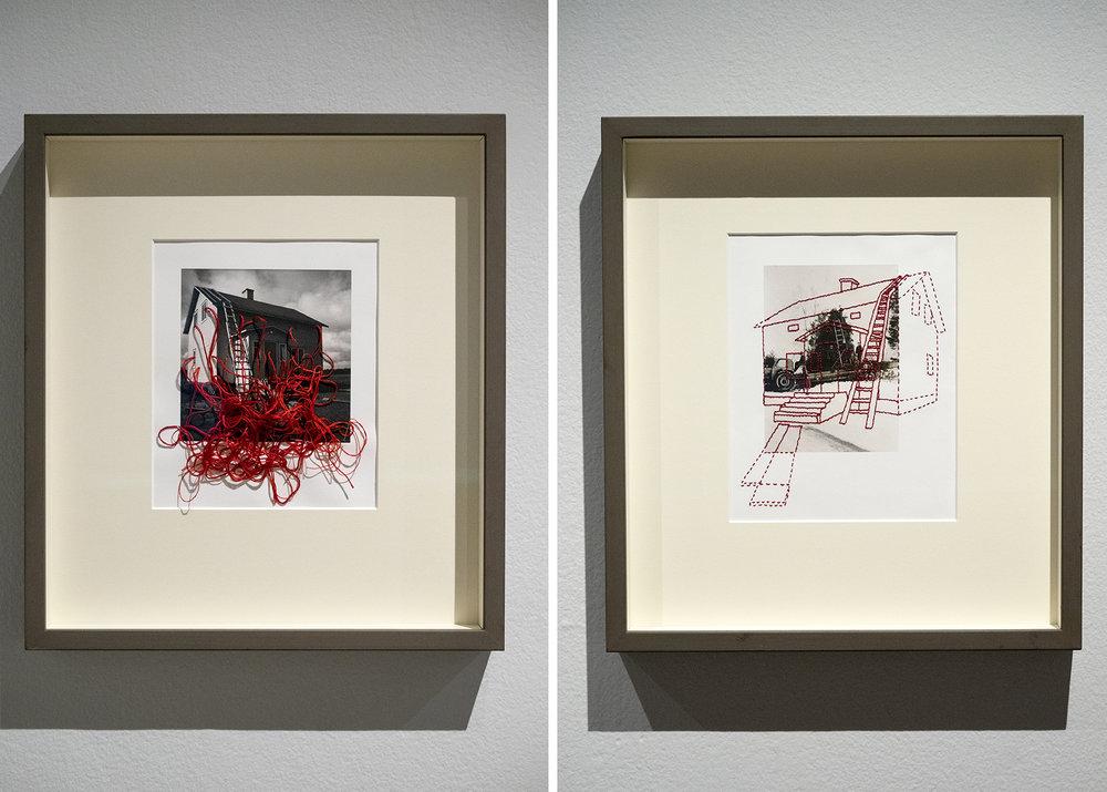 Vasemmalla teoksia kokonaisuudesta  Albumi  1955-1963 (1997-99) ja oikealla uusia teoksia kokonaisuuteen  Albumi  1955- 1963 (2018)