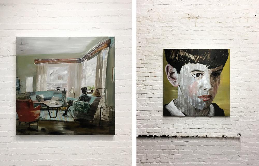 Vasemmalla: Adamsson:  Early Morning  (2019) ja oikea, Adamsson:  Alexander  (2019)