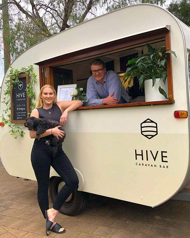 Hello Hive followers!! We're so excited to announce that we're the proud new owners of The Hive Caravan Bar 🥂Rebecca & Simon have created an amazing business and we hope to follow in their successful footsteps❣️ Lots of love, Luke & Emily xx