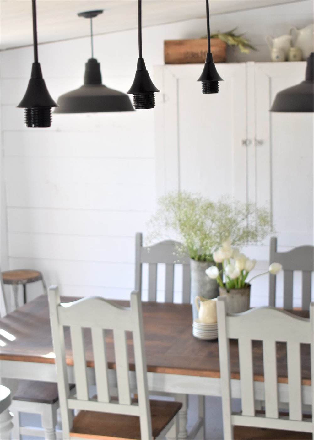 DIY Farmhouse Style Kitchen Light