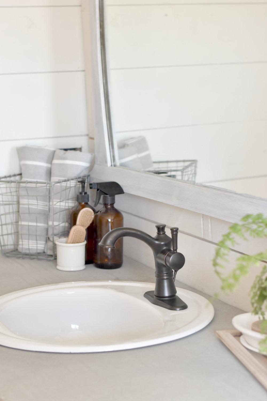 Farmhouse Concrete Bathroom Counter Top
