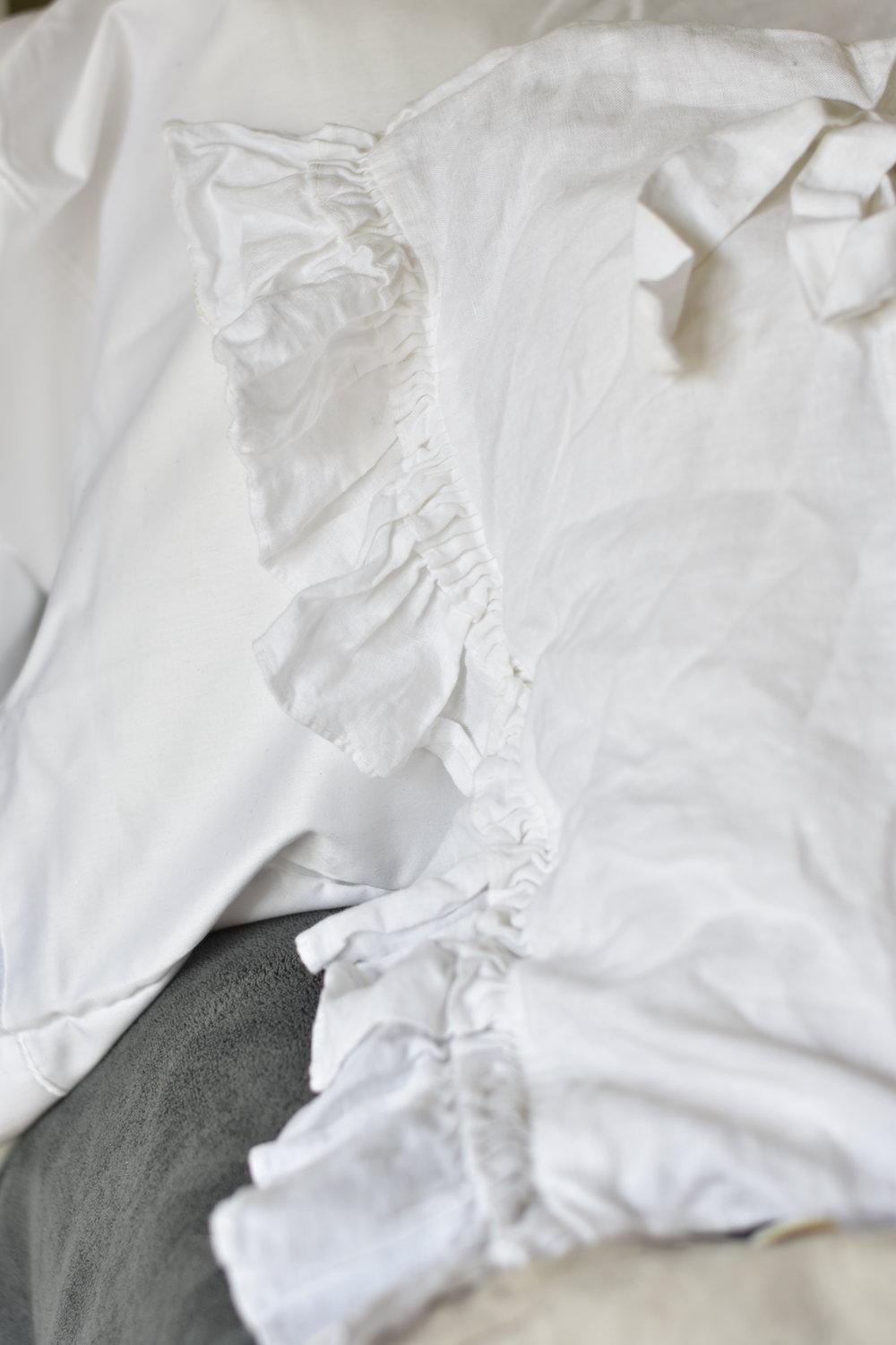 White Linen Pillow Cover Cases