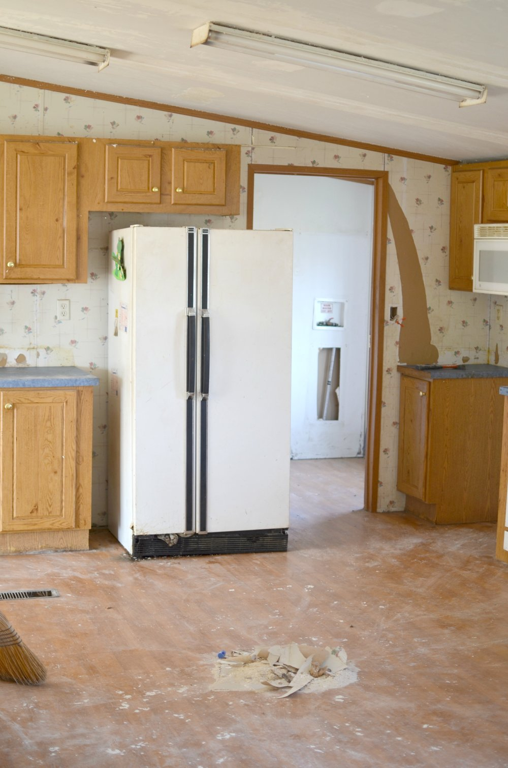 double wide kitchen makeover remodel
