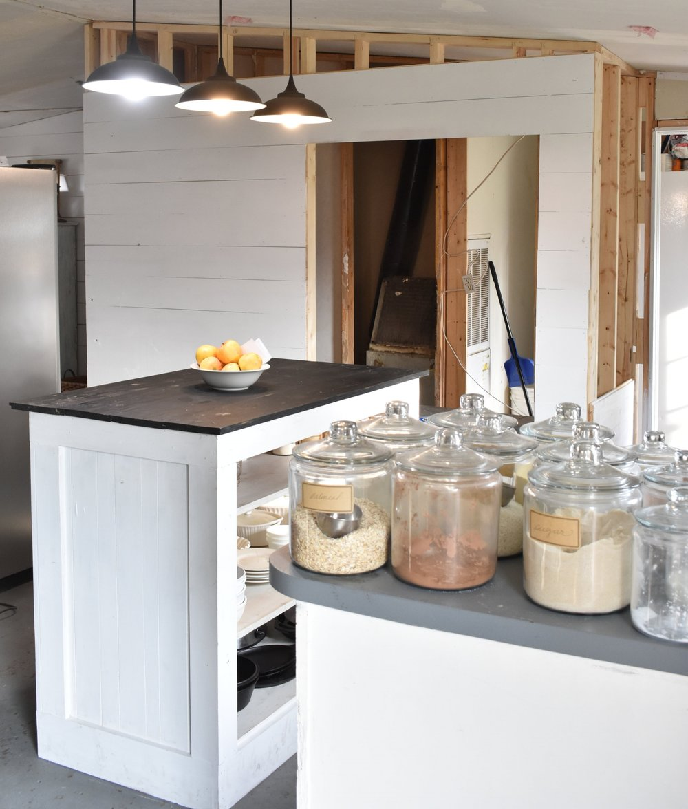 walk in pantry shiplap barn door kitchen