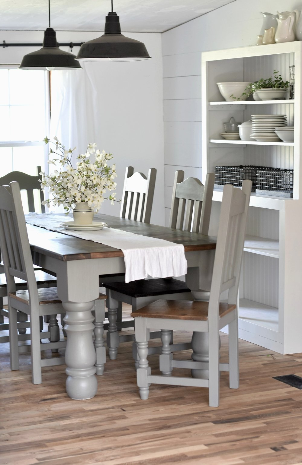 double wide remodel farmhouse style dining room