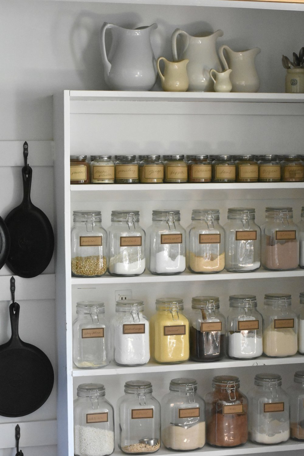 Farmhouse Style Organized Pantry