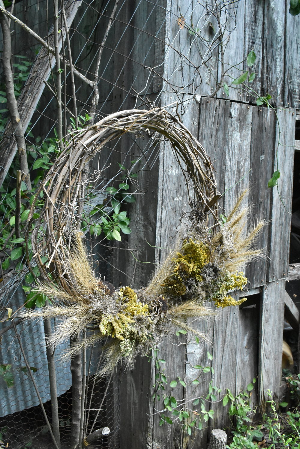 Diy Natural Fall Autumn Wreath