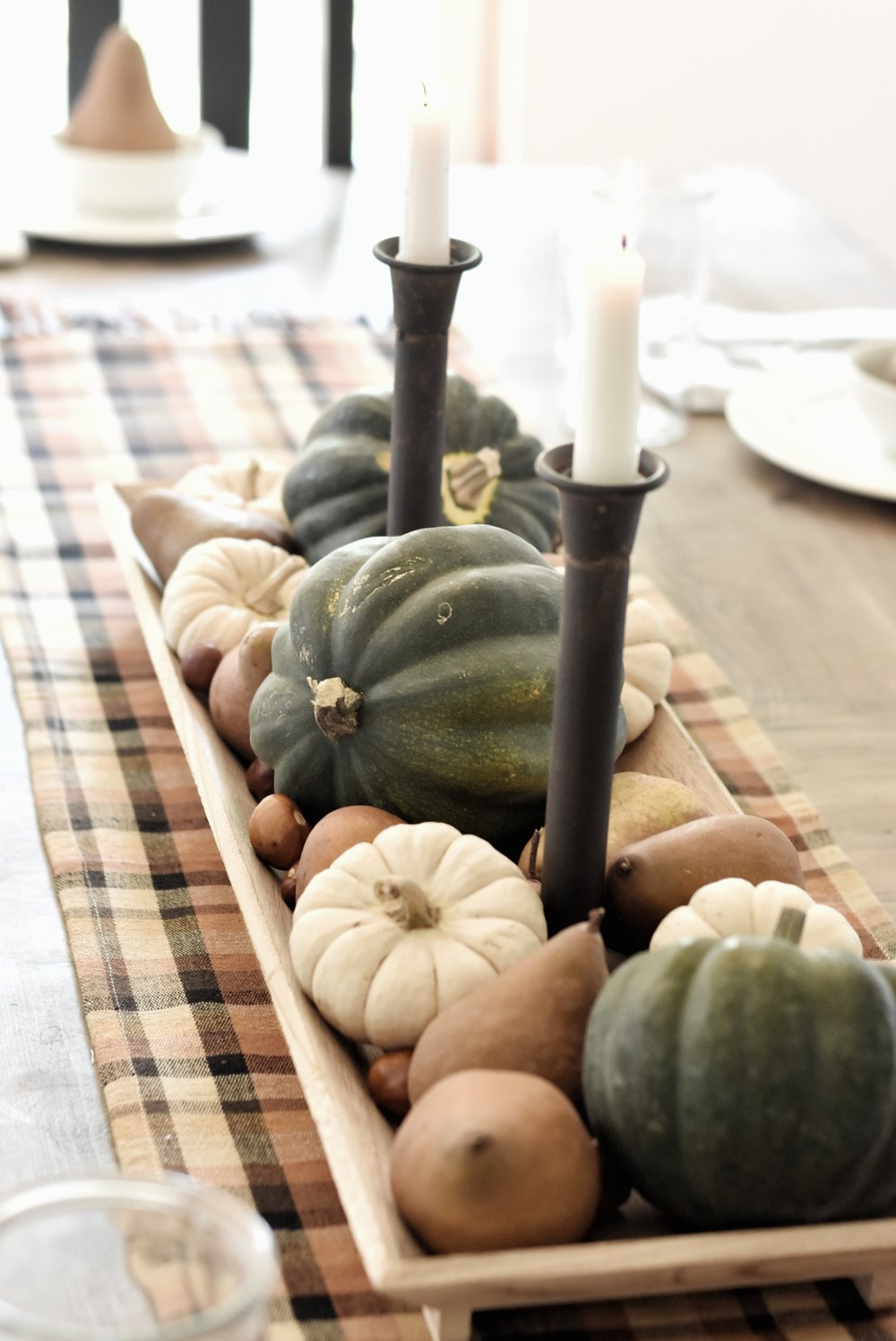 Fall Farmhouse Tablescape Dining Room Tour