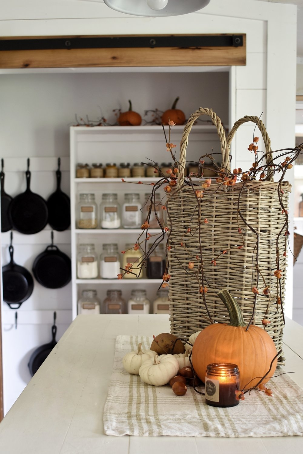 A Simple Farmhouse Fall Tour Dining Room and Kitchen