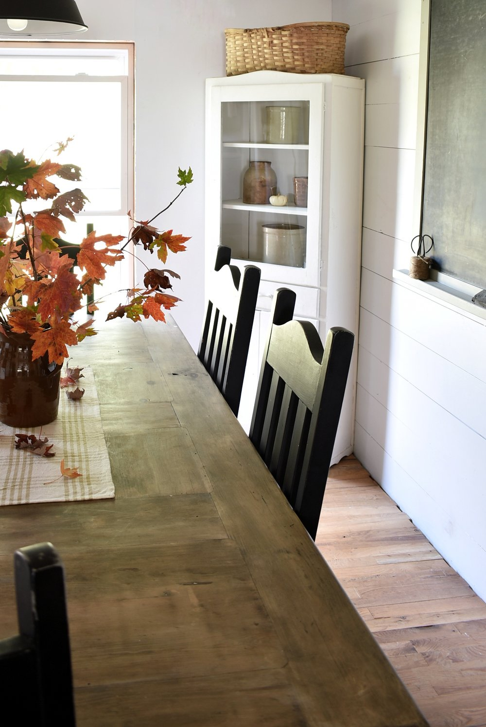 Flat Creek Farmhouse Dining Room In the Fall