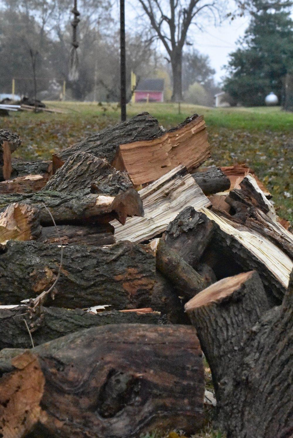 Firewood Stack www.flatcreekfarmhouse.com