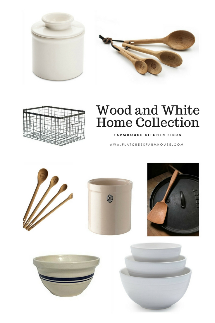 Wood and White Farmhouse Kitchen Collection