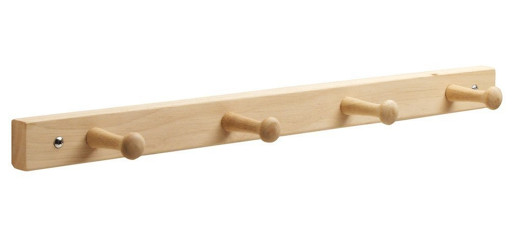 Wooden Shaker Style Peg Rack Rail