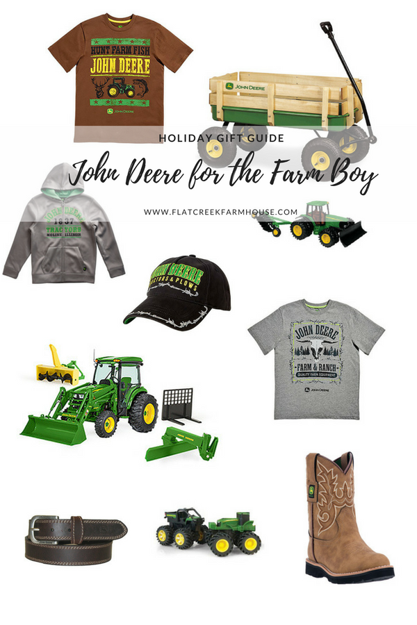 John Deere Gift Guide for the Holidays for the Farm boy