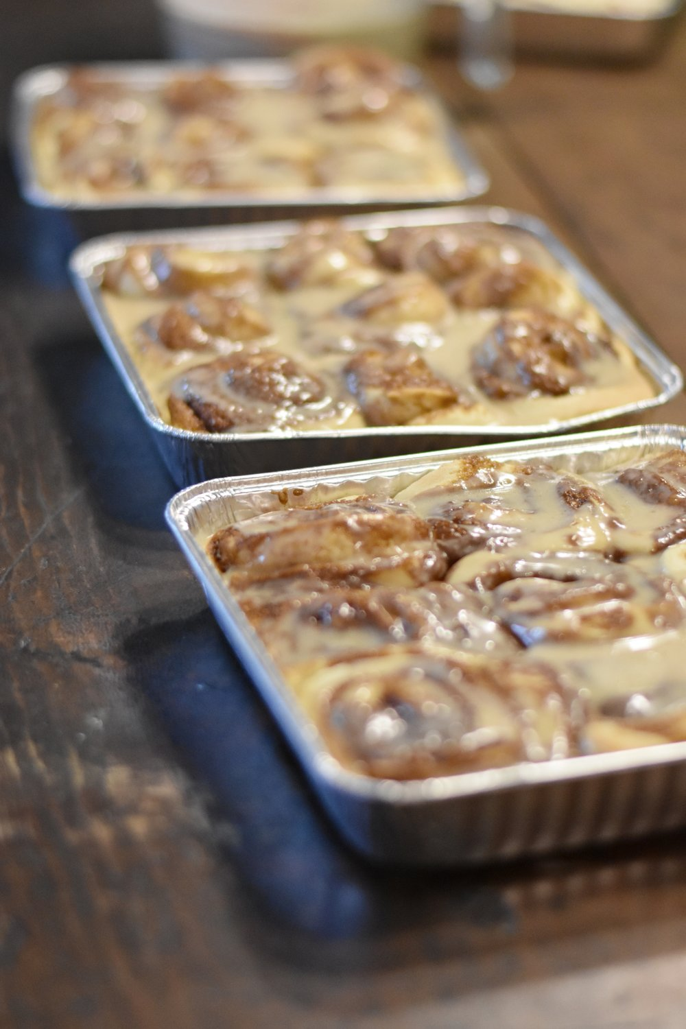 the most delicious maple glazed cinnamon rolls.