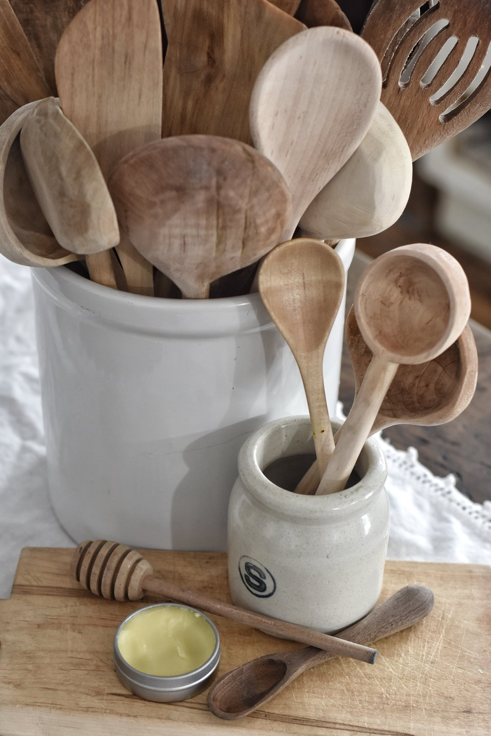 how to properly care for wooden utensils plus a recipe for spoon butter