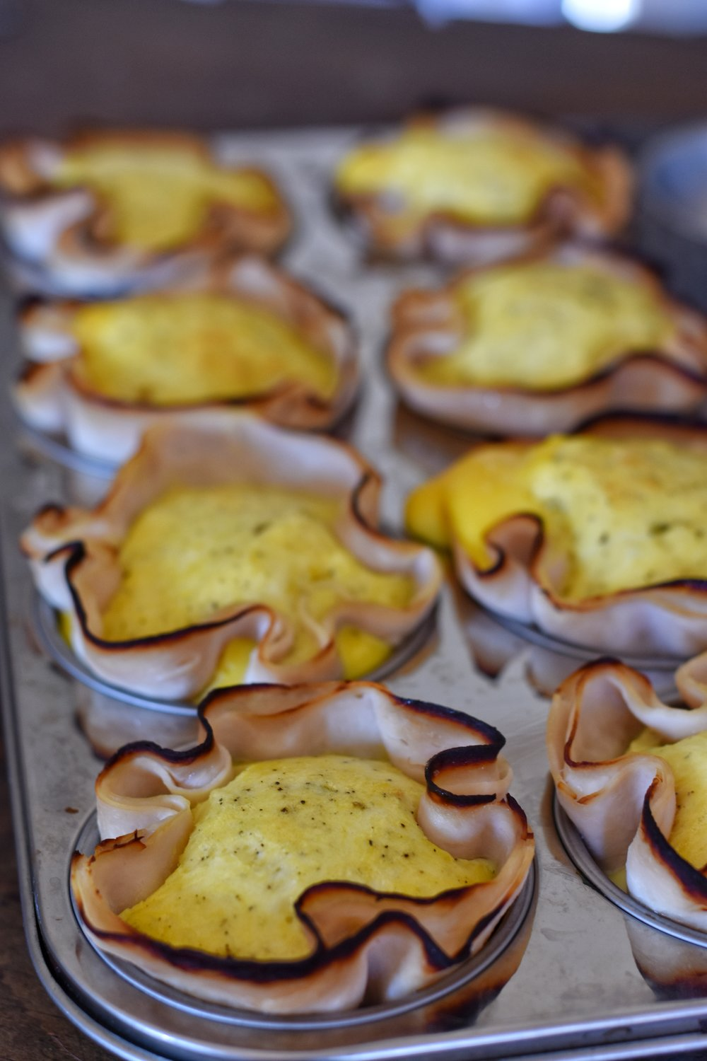 low carb paleo breakfast turkey egg and cheese cups oven baked