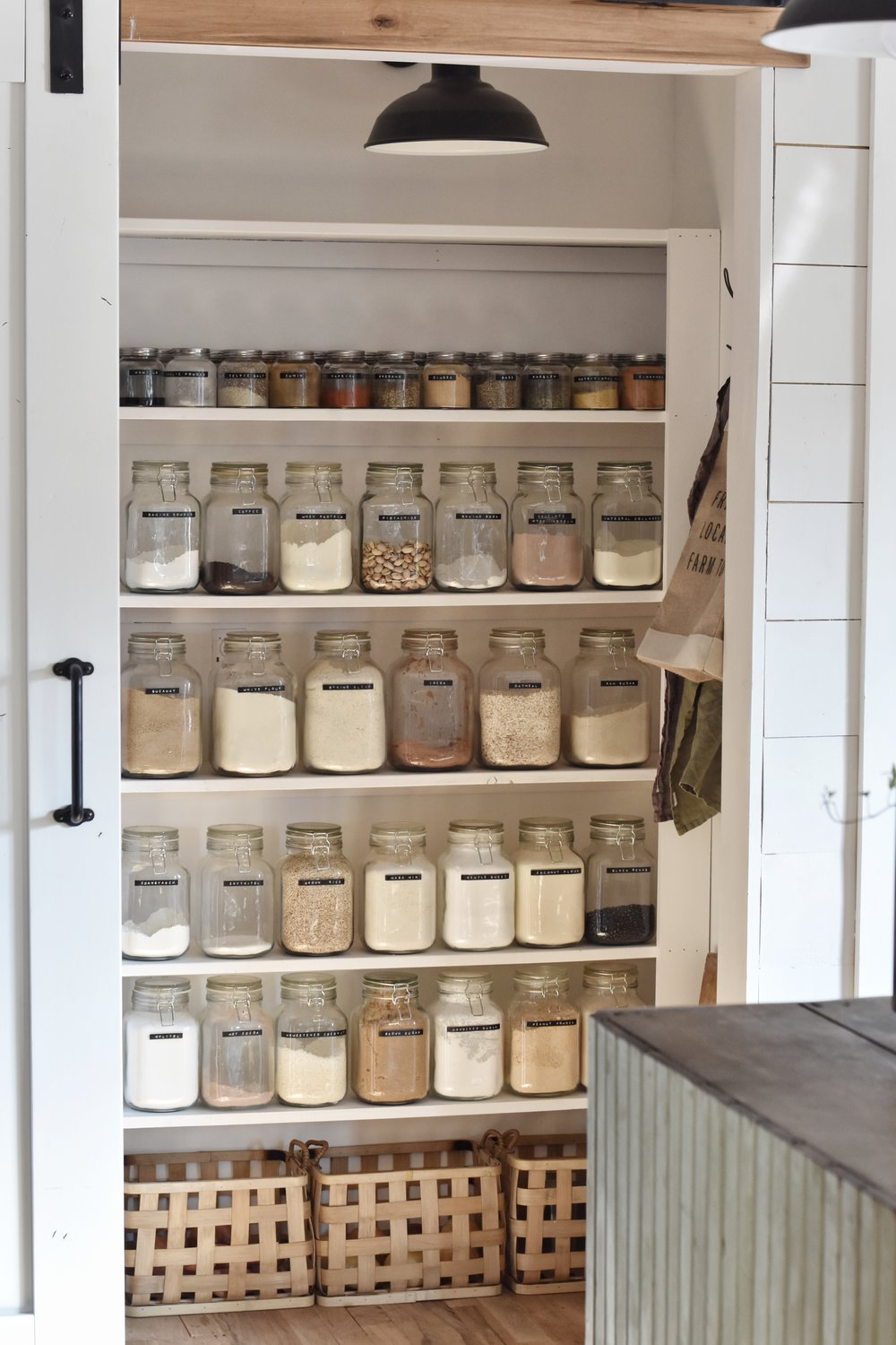 Flat Creek Farmhouse - Small Pantry Organization