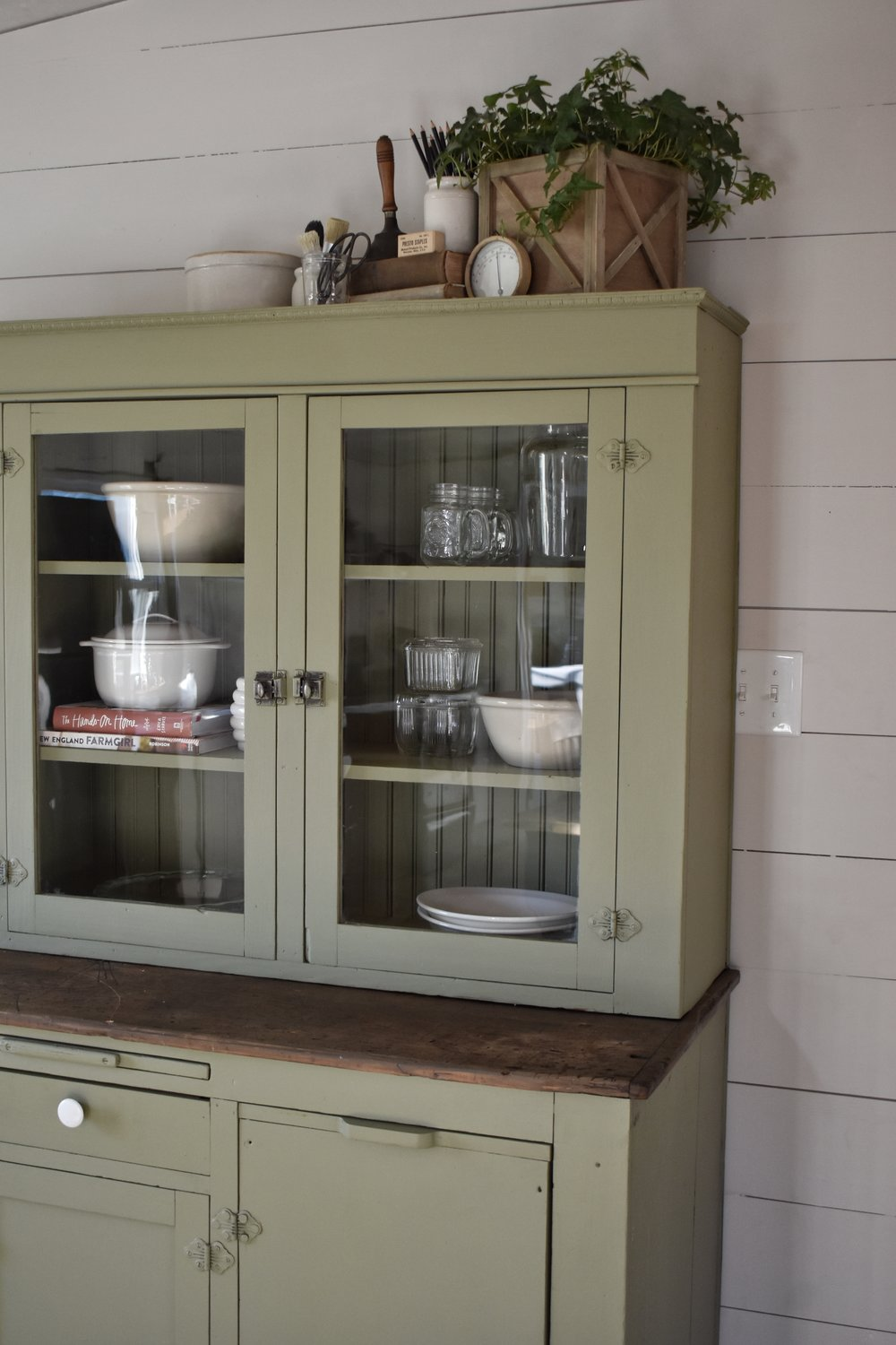A Beautiful Farmhouse Style Cabinet Makeover www.flatcreekfarmhouse.com
