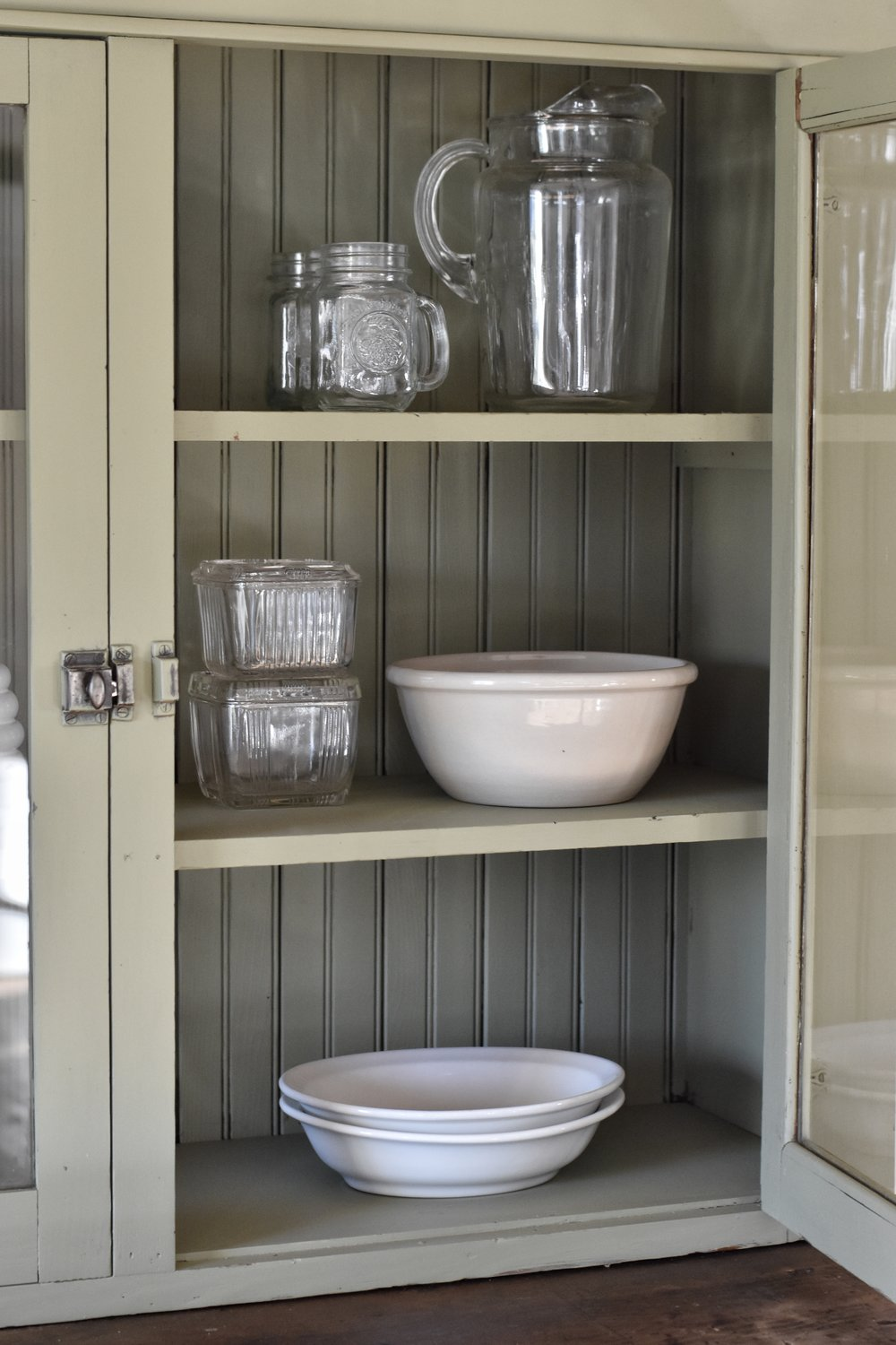 A Beautiful Farmhouse Style Cupboard www.flatcreekfarmhouse.com
