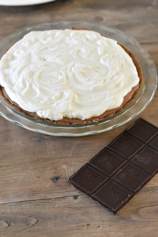 Chocolate Mocha Gelatin Pie THM-S Dessert Paleo Keto Pie