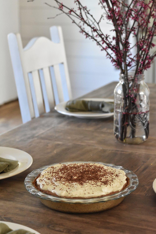 Mocha Chocolate Gelatin Pie THM-S Paleo Keto Sugar Free