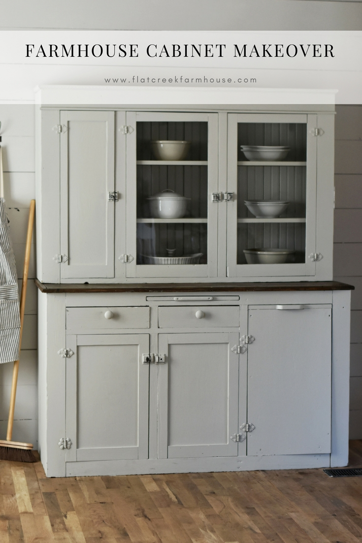 farmhouse style cabinet painted in magnolia paint color gatherings www.rockyhedgefarm.com