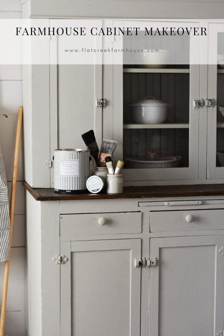 farmhouse cabinet makeover using magnolia homes paint called gatherings