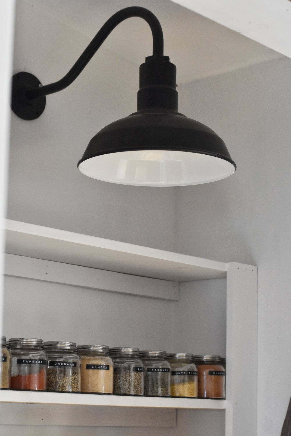 gooseneck light - this gooseneck light is the perfect farmhouse light. i love that it is also made here in the usa