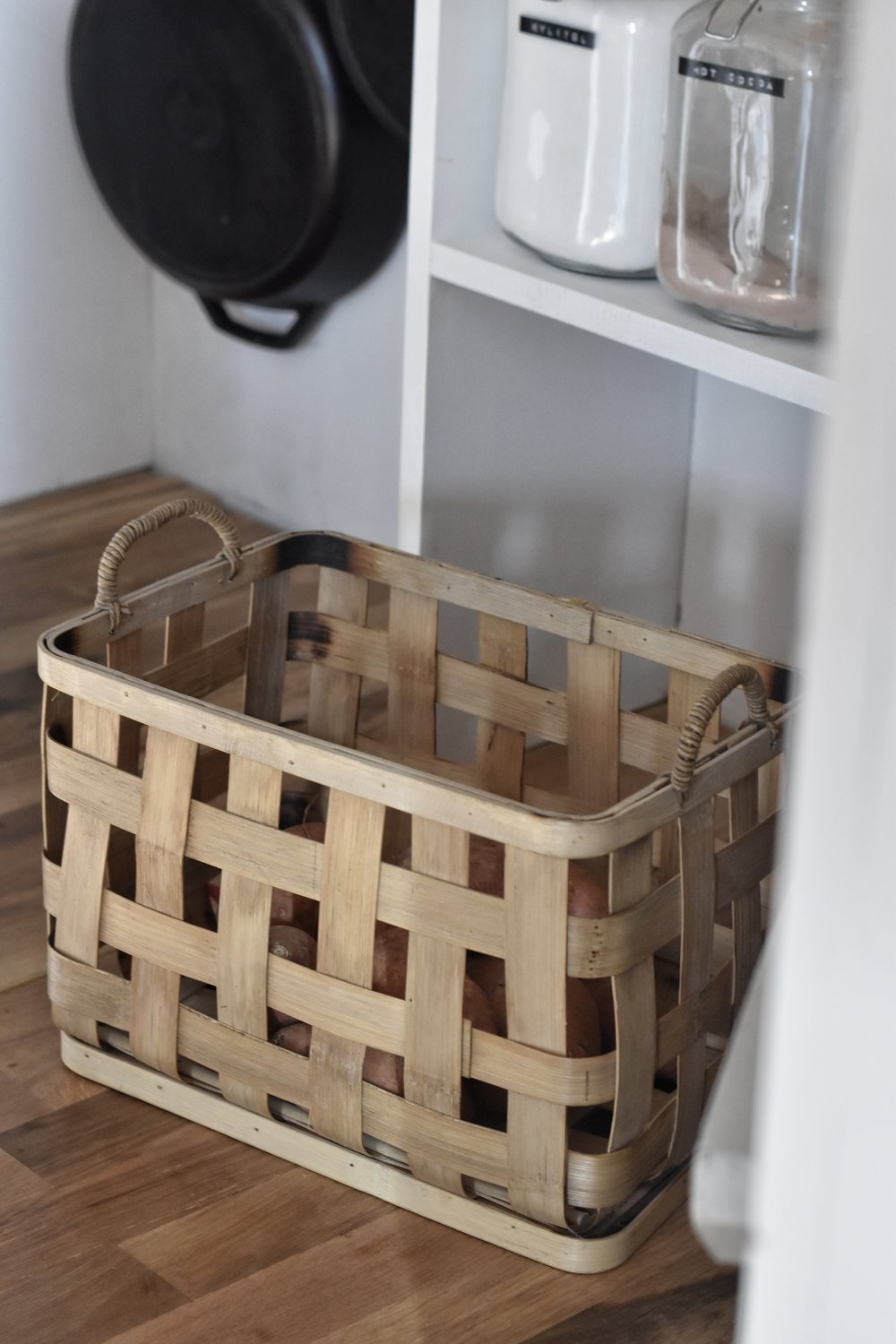 pantry basket - this basket was purchased from hobby lobby but I have been unable to find them online